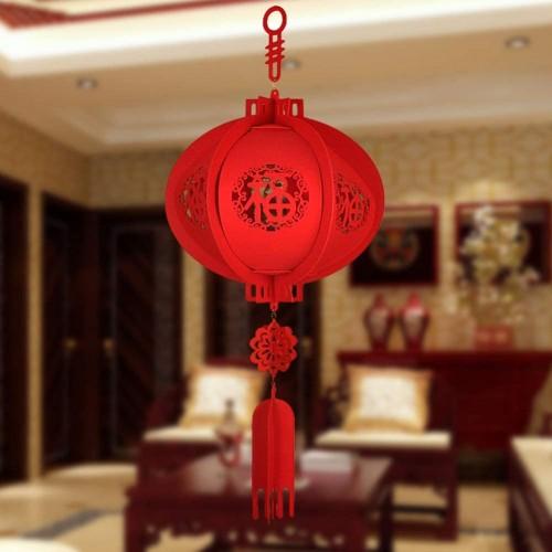 Lanterna rosso ovale per Capodanno Cinese, da 30 cm