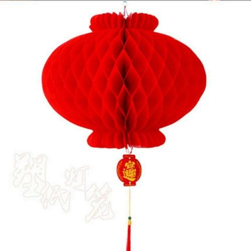 Set di 10 lanterne rosse tradizionali Cinesi, decorazioni per feste