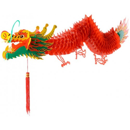 Ghirlanda Dragone Cinese, 3D, per Capodanno e feste