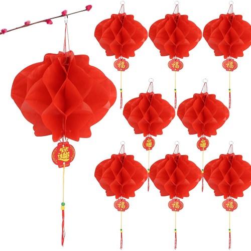 Set da 20 lanterne rosse da 18cm, Capodanno Cinese o feste a tema