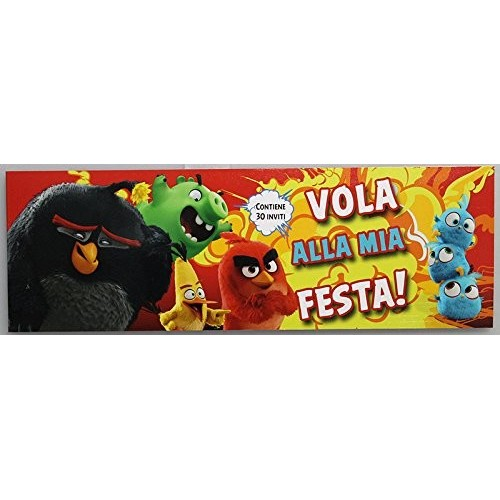 Blocchetto 30 Inviti Angry Birds