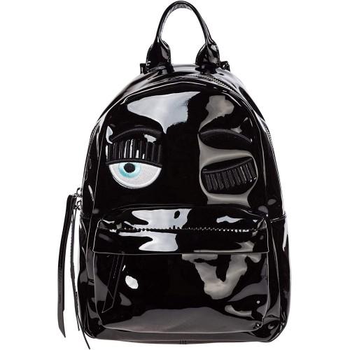 Zainetto Backpacks di Chiara Ferragni, nero lucido, ufficiale
