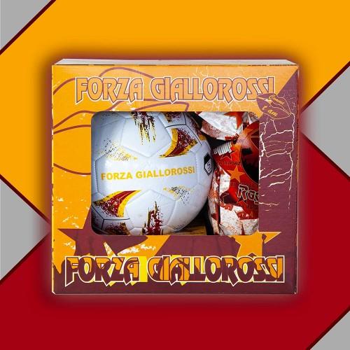 Pallone A.S Roma con Uova di Pasqua da 150gr, Forza giallorossi
