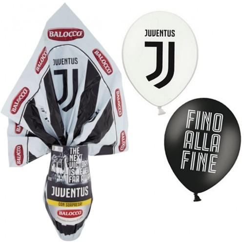 Uovo di Pasqua della Juventus, da 240 gr, omaggio 12 palloncini Juve