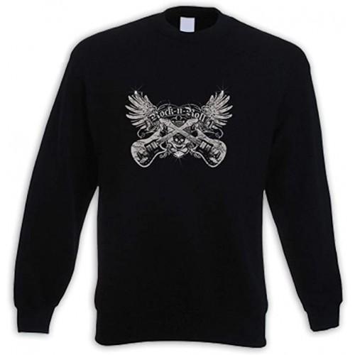 Felpa Rock e Music Metal, colore nero, invernale