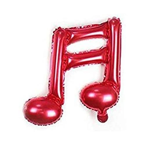 Palloncino Nota musicale rosso, in alluminio, da 45 cm