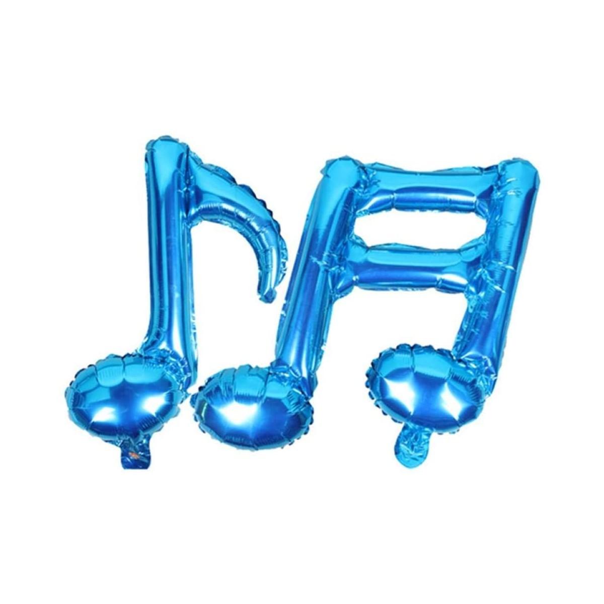 Set 2 palloncini blu note musicali, in lamina, da 45 cm, per feste