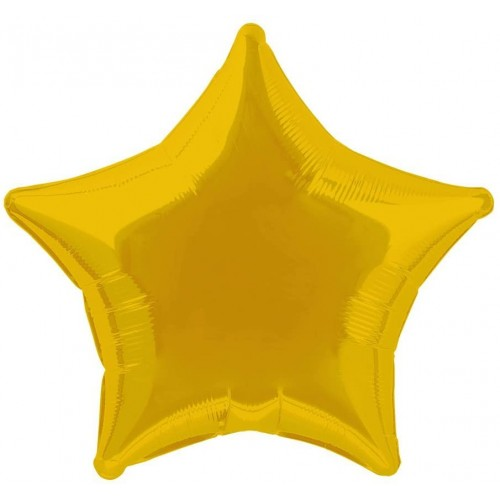 Palloncino stella oro da 50 cm, foil dorato, in lamina