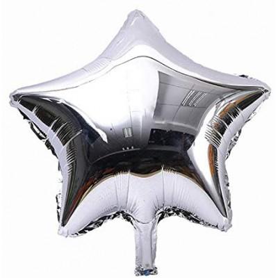 Set da 10 palloncini argento forma stella, per feste chic