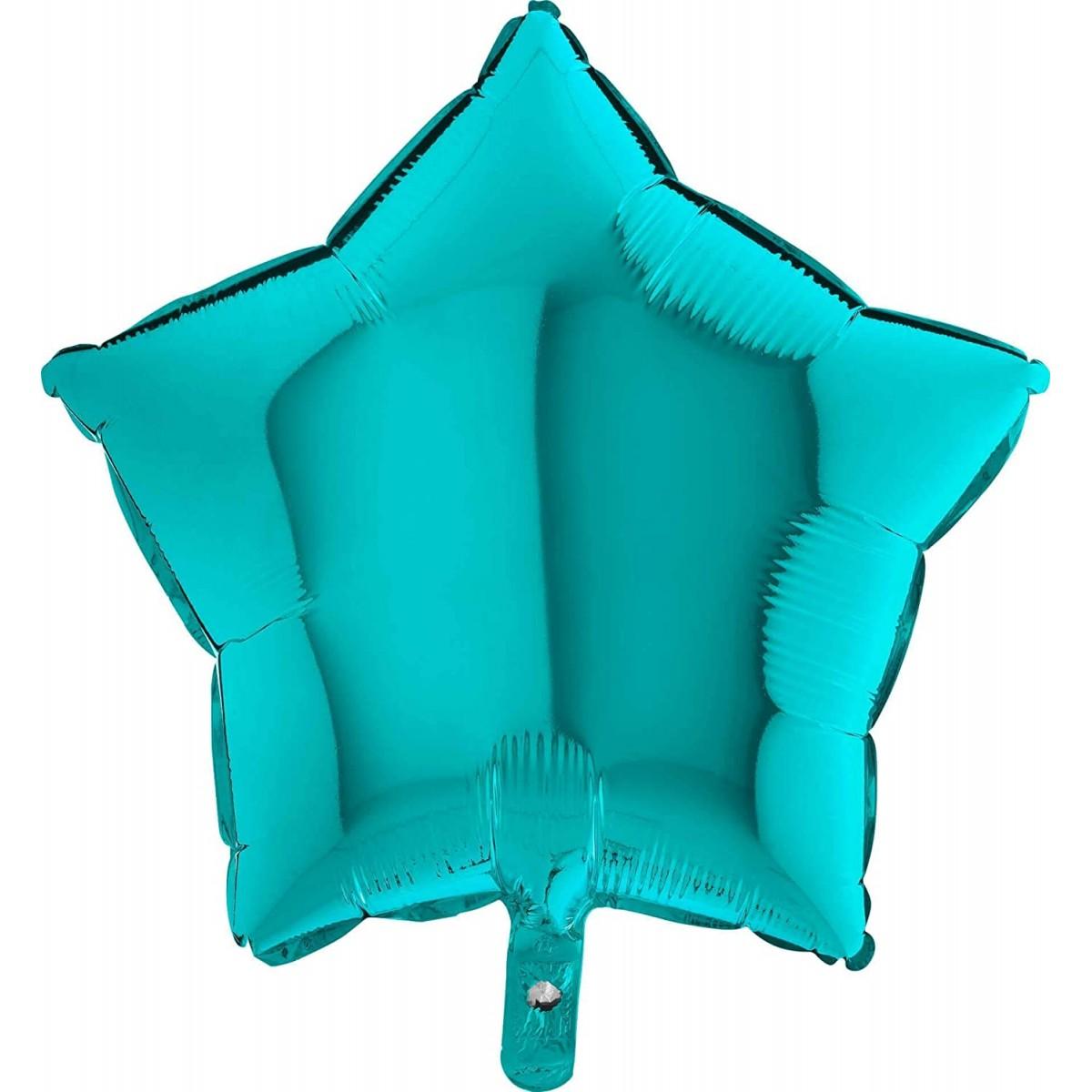 Palloncino tiffany forma stella, da 45 cm, in alluminio