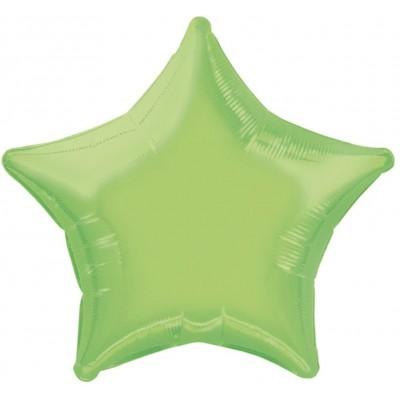 Palloncino verde lime forma stella, da 50 cm, in alluminio