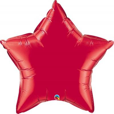 Palloncino rosso forma stella da 50 cm, in lamina, per feste