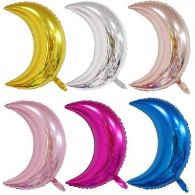 Set da 6 Palloncini forma luna, colori assortiti, in alluminio