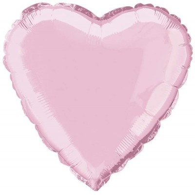 Palloncino rosa forma cuore, foil da 45 cm, in alluminio, per feste