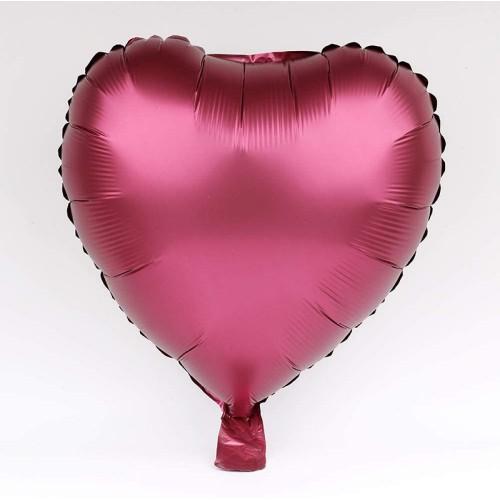 Set da 5 palloncini magenta forma cuore, in lamina, per feste