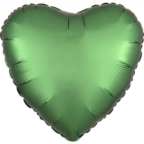 Palloncino Verde Smeraldo forma cuore, da 42 cm, per feste