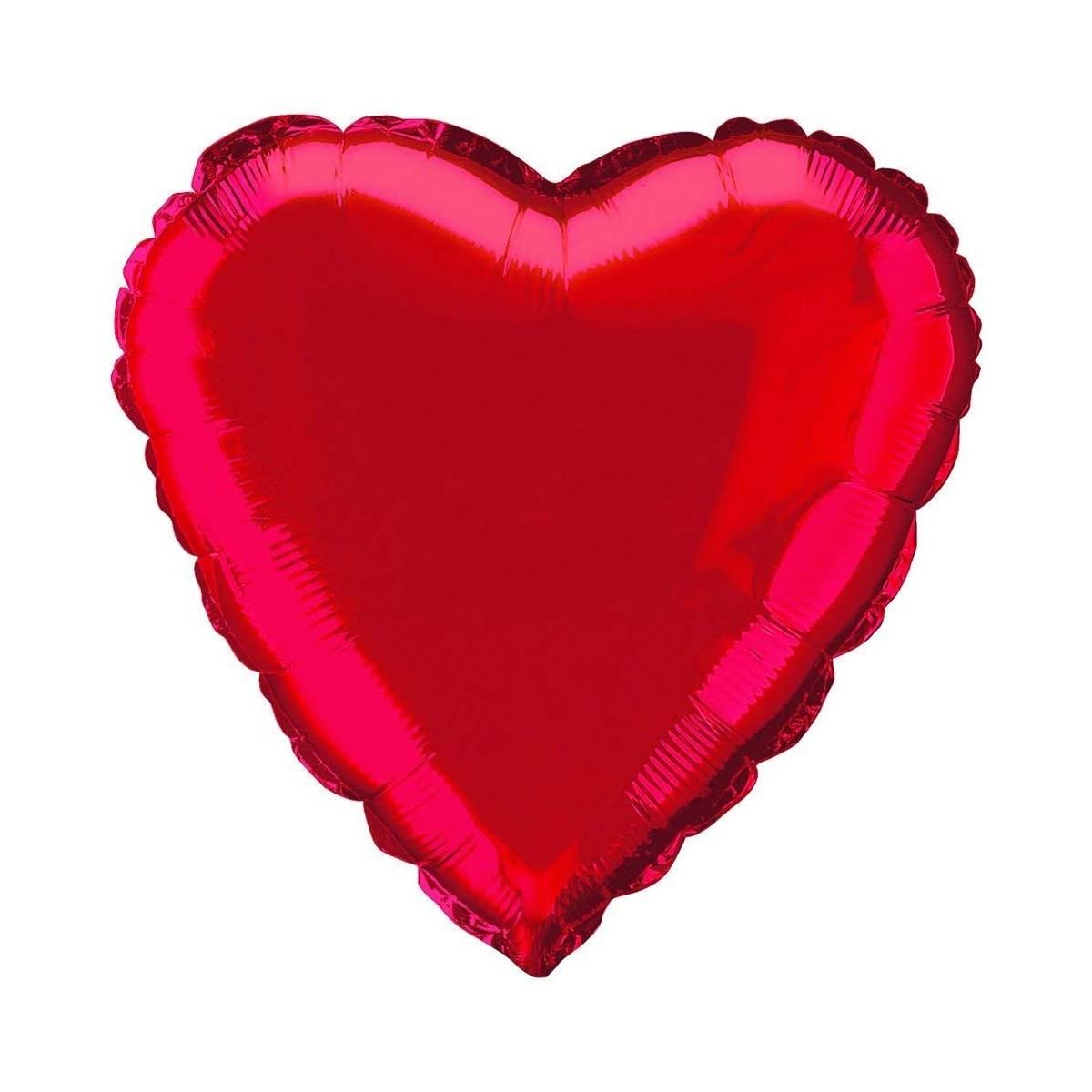 Palloncino rosso forma cuore da 45 cm, per San Valentino