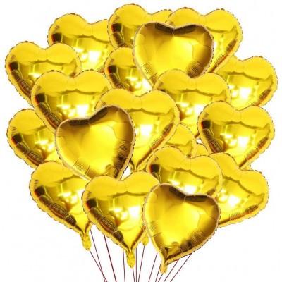 Set da 50 Palloncini Cuore, colore oro, da 30 cm, per feste di compleanno