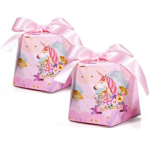 Set da 30 scatoline rosa Unicorno, per bomboniere