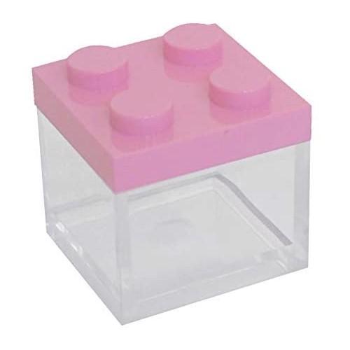 Set 24 scatolina Lego, rosa per bomboniere nascita, battesimo, compleanni