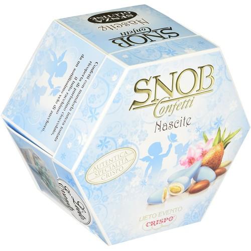 Confetti Crispo Snob, Lieto Evento, celesti, 4 confezioni da 500 gr