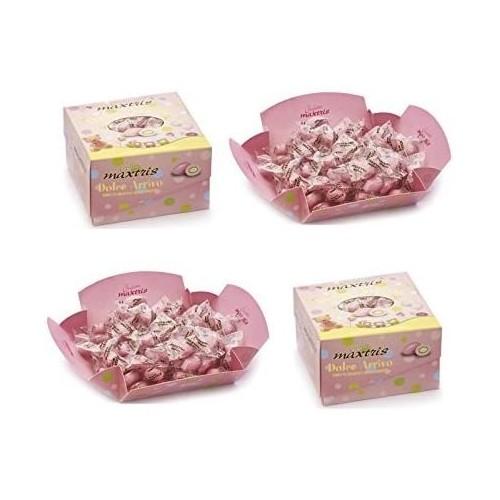 Confetti Dolce Arrivo, rosa, Maxtris, da 2kg, per confettate golose