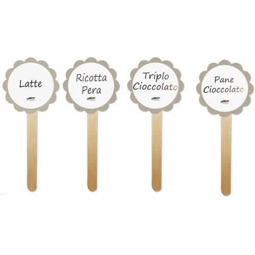 Set da 10 palette con Adesivi personalizzabili segnagusto, per confettate