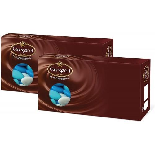 Confetti al cioccolato, celesti, da 2 kg - Gangemi, 2 confezioni