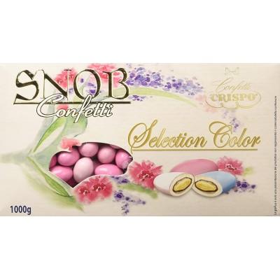 Confetti sfumati rosa da 1 kg, Crispo Snob, al cioccolato al latte