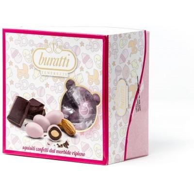 Confetti alla mandorla rosa, Tenerezze Buratti da 500 g, al cioccolato