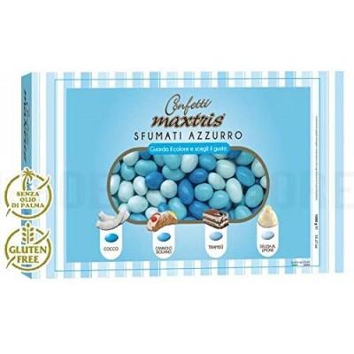 Confetti sfumati celesti - Maxtris da 1 kg, per confettate nascita