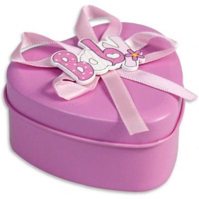 Set 12 scatoline forma cuore per confetti, con bomboniere e confettate