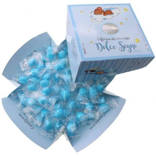 Confetti incartati azzurri alla mandorla, da 500g Dolce Sogno
