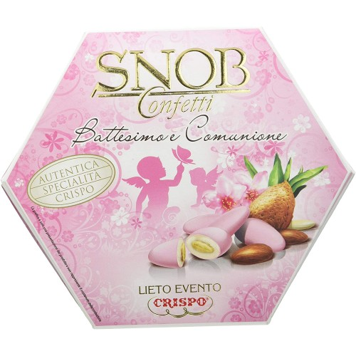 Confetti rosa da 500 gr - Crispo Snob Lieto Evento