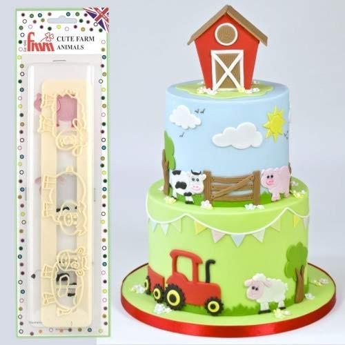 Stampini animali fattoria per decorare la torta