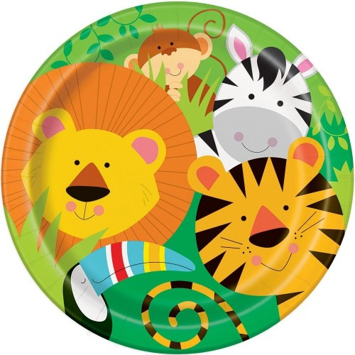 Piatti Savana, animal party, diametro 23 cm, confezione da 8