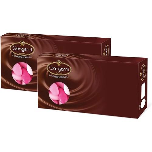 Confetti al cioccolato, sfumati rosa da 2 kg - Gangemi, per confettate
