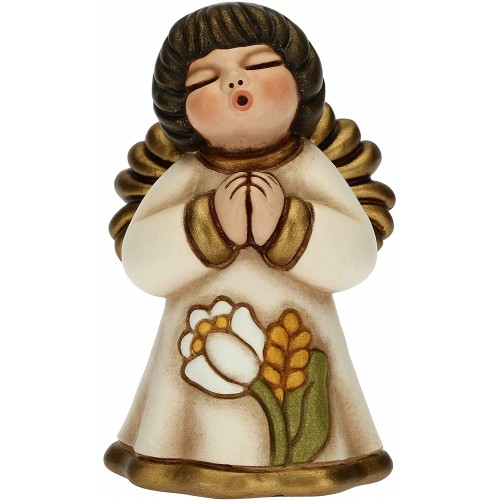 Angioletto Thun con giglio, per bomboniere, in ceramica, idea regalo