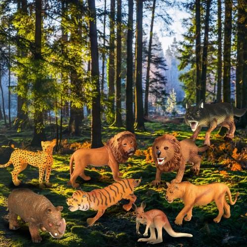 Estela Animali Giocattolo, 12 PCS Realistici Animali della Giungla Animale Selvaggio, Perfetti per Giocare o per Regalo per F