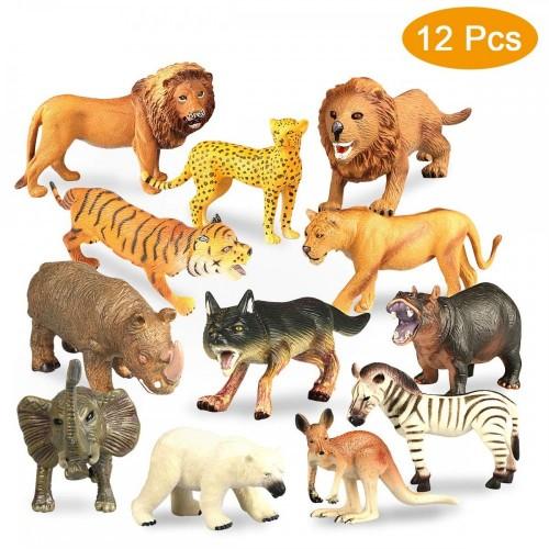 12 modellini animali Savana