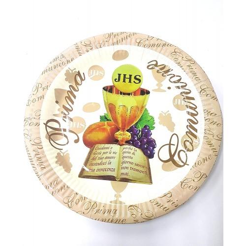 Kit da 40 piatti sacramento Comunione da 23 cm, in cartoncino e PVC