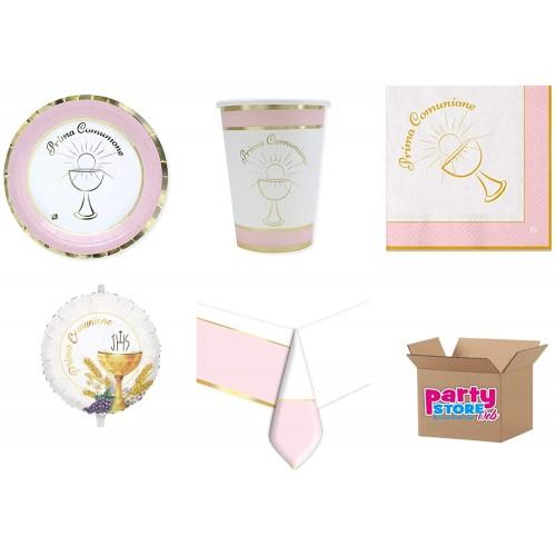 Kit per 16 invitati Comunione, classic rosa