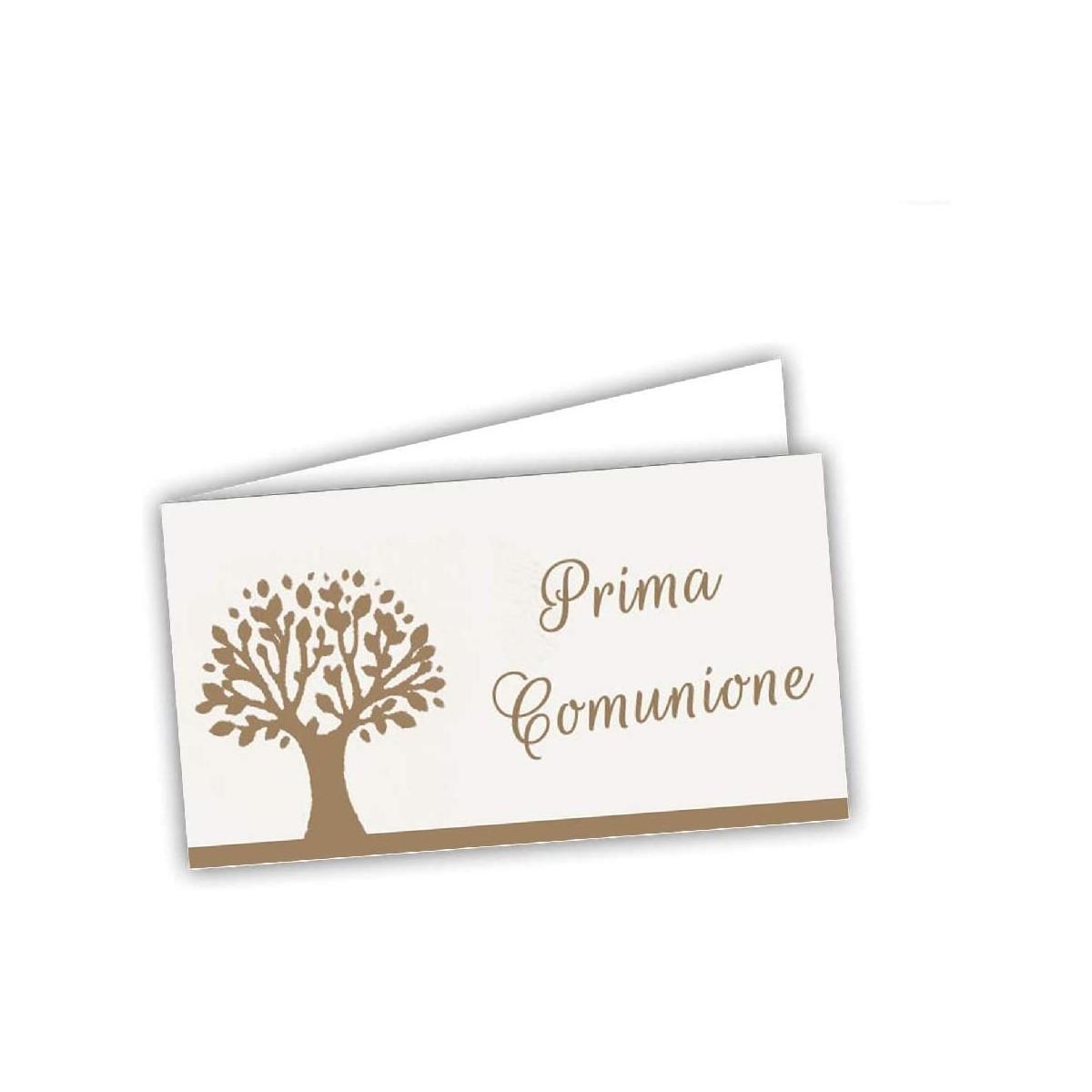 Set da 60 bigliettini Comunione con albero della vita, personalizzabili