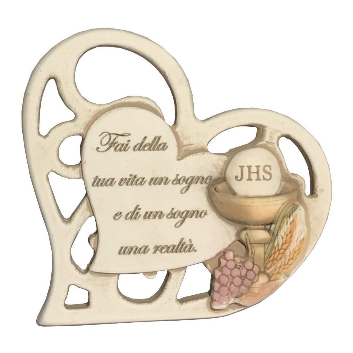 Bomboniera Prima Comunione, con scatola e confetti, forma cuore