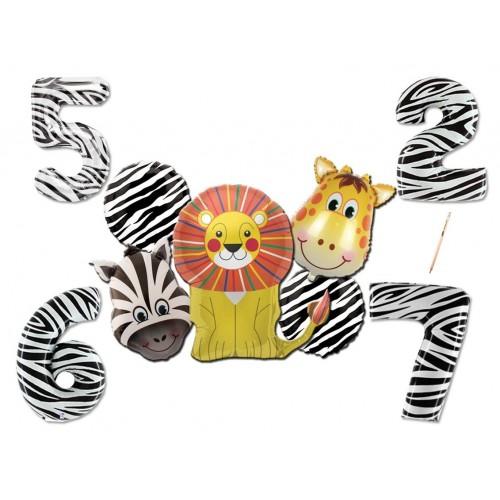 Composizione palloncini animali della Savana