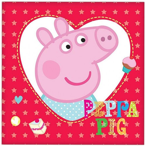 Tovaglioli Peppa pig cuore
