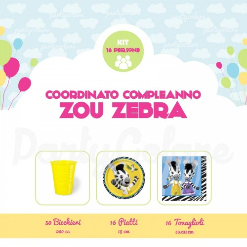 Kit 16 persone Zou Zebra
