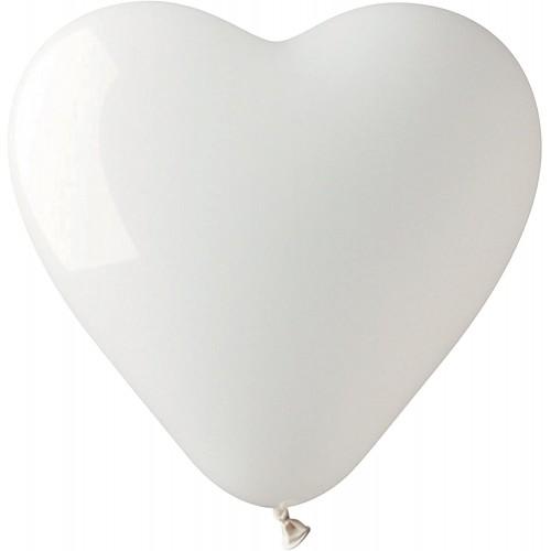 Set da 14 Palloncini cuore bianchi, romantici ed eleganti