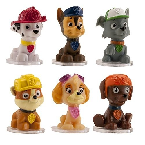 cake topper figurine figure Decoration Birthday - Paw Patrol 6 Piece set