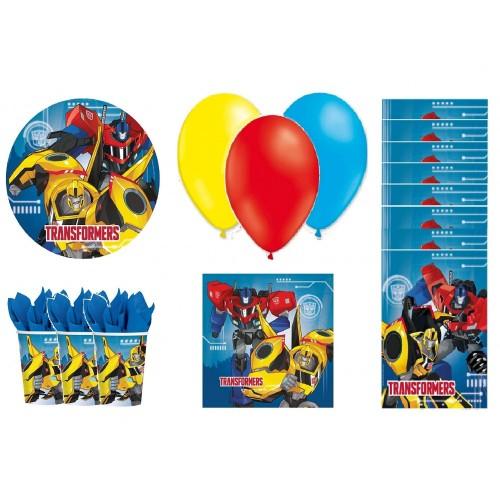 Set 8 persone Transformers con palloncini